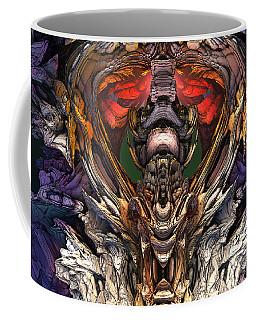 Coffee Mug featuring the digital art Dragaon Heart Temple by Mary Almond