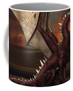 Dragon At Sunset Coffee Mug