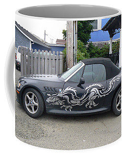 Coffee Mug featuring the photograph Dragon Bmw by Pamela Patch