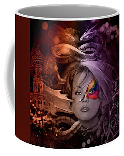 Coffee Mug featuring the digital art Dragon Dreams by Kathy Kelly