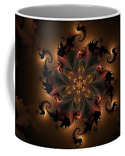 Dragon Flower Coffee Mug by GJ Blackman