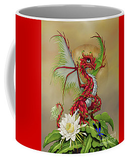 Coffee Mug featuring the digital art Dragon Fruit Dragon by Stanley Morrison