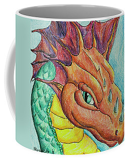 Dragon Portrait Coffee Mug by Yulia Kazansky