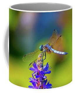 Dragonfly And Purple Flower Coffee Mug