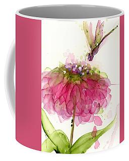 Dragonfly And Zinnia Coffee Mug