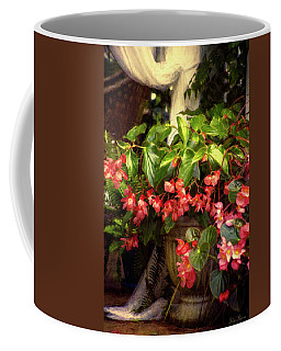 Dragonfly Begonia Coffee Mug by John Rivera