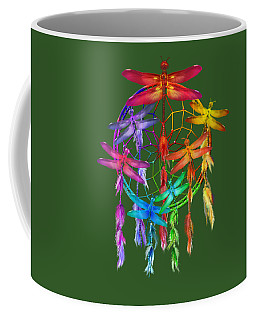 Coffee Mug featuring the mixed media Dragonfly Dreams by Carol Cavalaris