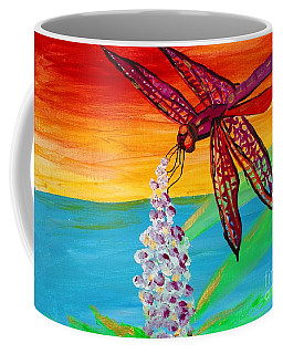 Dragonfly Ecstatic Coffee Mug