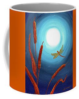 Dragonfly In Teal Moonlight Coffee Mug