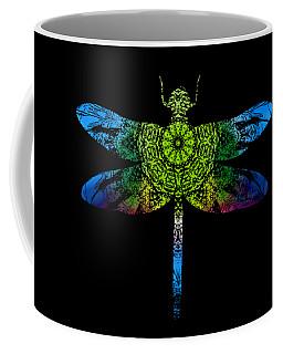 Dragonfly Kaleidoscope Coffee Mug