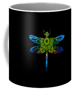 Dragonfly Kaleidoscope Coffee Mug