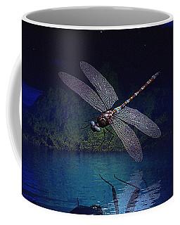 Dragonfly Night Reflections Coffee Mug