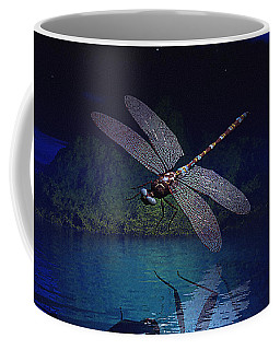 Dragonfly Night Reflections Coffee Mug