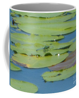 Dragonfly On Lily Pad Coffee Mug