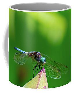 Dragonfly On Lotus Bud Coffee Mug