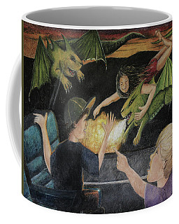 Dragons From The Train Coffee Mug