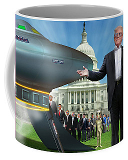 Coffee Mug featuring the digital art Draining The Swamp With Help From Above by Mike McGlothlen