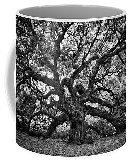 Dramatic Angel Oak In Black And White Coffee Mug