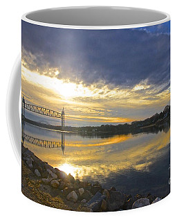 Dramatic Cape Cod Canal Sunrise Coffee Mug