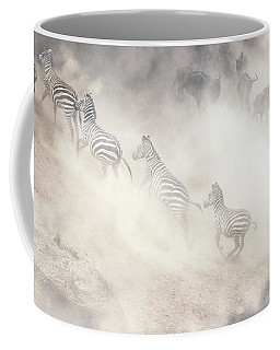 Dramatic Dusty Great Migration In Kenya Coffee Mug