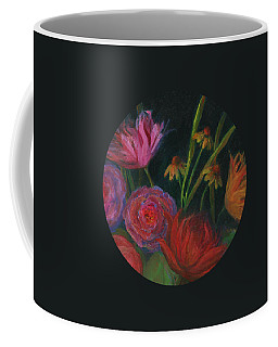 Dramatic Floral Still Life Painting Coffee Mug