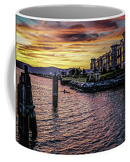 Dramatic Hudson River Sunset Coffee Mug