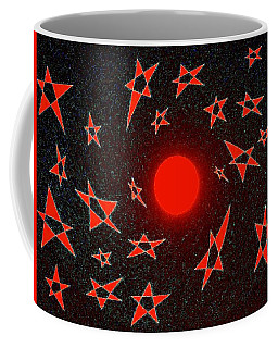 Coffee Mug featuring the mixed media Dramatic Radiation  by Will Borden