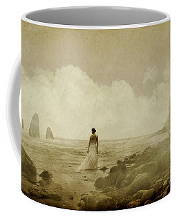 Dramatic Seascape And Woman Coffee Mug