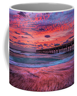 Dramatic Sunrise Over Juno Beach Pier, Florida Coffee Mug