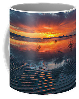 Coffee Mug featuring the photograph Dramatic Sunset by Spencer Baugh