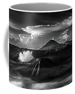 Coffee Mug featuring the photograph Dramatic View Of Mount Bromo by Pradeep Raja Prints