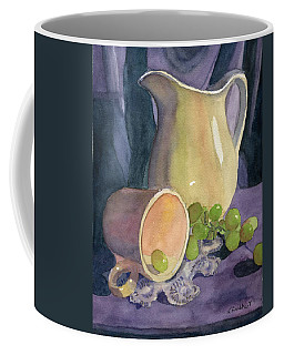 Drapes And Grapes Coffee Mug by Lynne Reichhart
