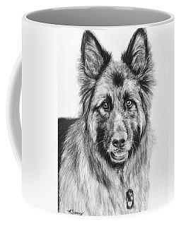 Drawing Of A Long-haired German Shepherd Coffee Mug by Kate Sumners