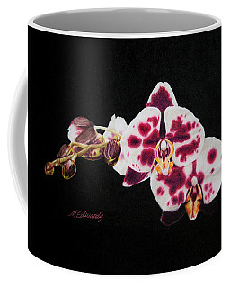 Drawing Of Polka Dot Moths Coffee Mug by Marna Edwards Flavell