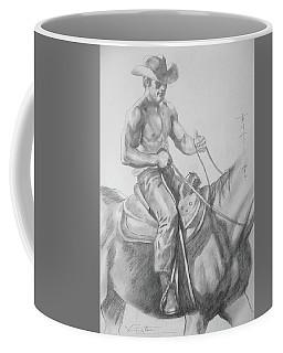 Drawing Pencil Cowboy On Horse #17119 Coffee Mug