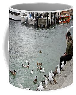 Dreadlocks Man Feeding Birds Coffee Mug