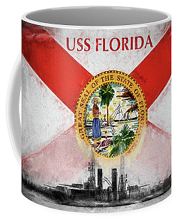Dreadnought Uss Florida Coffee Mug by JC Findley