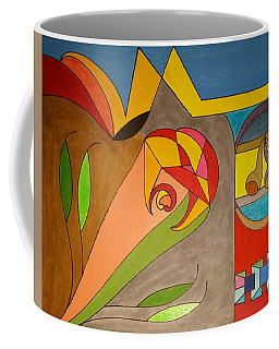 Coffee Mug featuring the painting Dream 326 by S S-ray