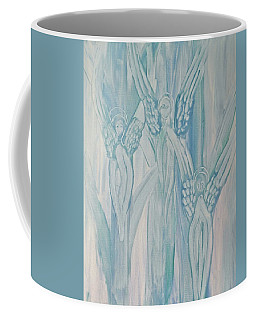 Coffee Mug featuring the painting Dream Angels by Michele Myers