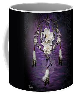 Dream Catcher Purple Flowers Coffee Mug