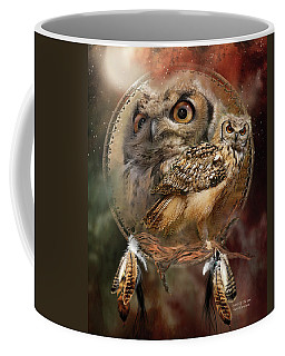 Dream Catcher - Spirit Of The Owl Coffee Mug