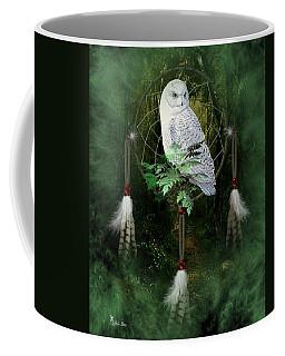 Dream Catcher White Owl Coffee Mug