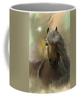 Coffee Mug featuring the digital art Dream Horse by Darren Cannell