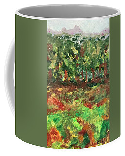Coffee Mug featuring the painting Dream In Green by Norma Duch