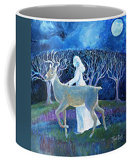 Coffee Mug featuring the painting Dream Journey by Trudi Doyle