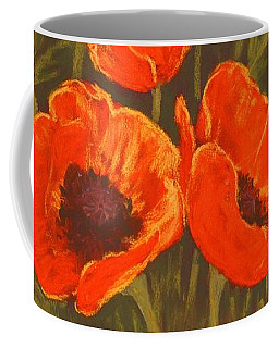 Coffee Mug featuring the painting Dream Of Poppies by Anastasiya Malakhova