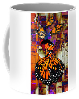 Coffee Mug featuring the mixed media Dreaming Of Flying High by Marvin Blaine