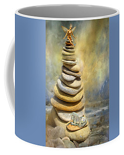 Coffee Mug featuring the mixed media Dreaming Stones by Carol Cavalaris