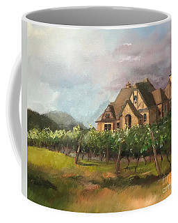 Coffee Mug featuring the painting Dreams Come True - Chateau Meichtry Vineyard - Plein Air by Jan Dappen
