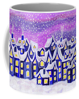 Dreamstown Blue, Painting Coffee Mug by Irina Afonskaya